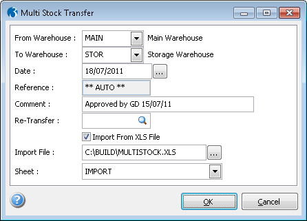 Multi Stock Transfer